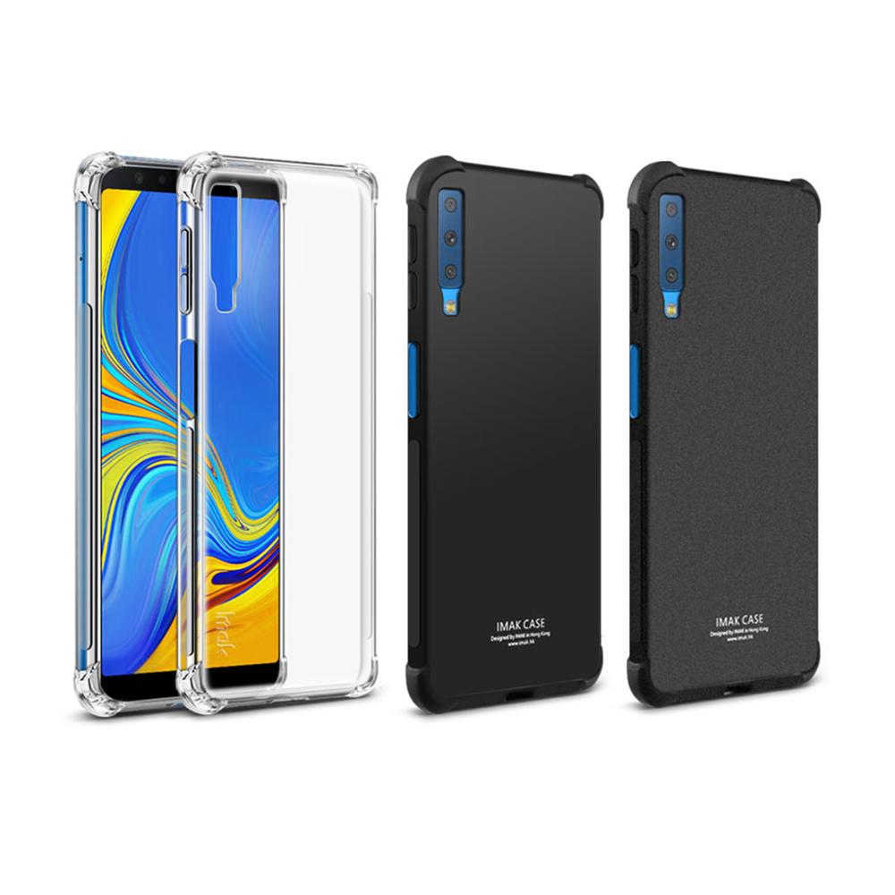 Imak SAMSUNG Galaxy A7(2018) 全包防摔套(氣囊)(磨砂黑)