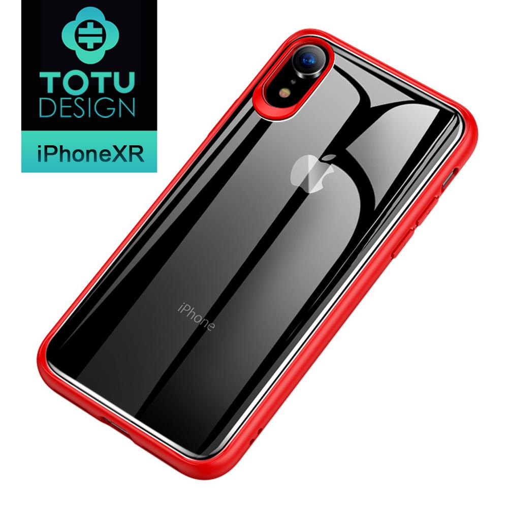 【TOTU台灣官方】iPhoneXR 手機殼 iXR 全包軟邊防摔手機殼 晶彩系列 紅色