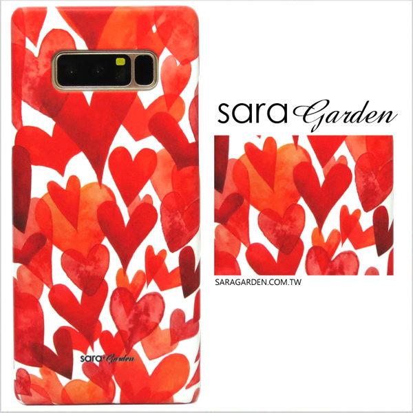 【Sara Garden】客製化 手機殼 Samsung 三星 Note8 滿版 漸層 愛心 保護殼 硬殼