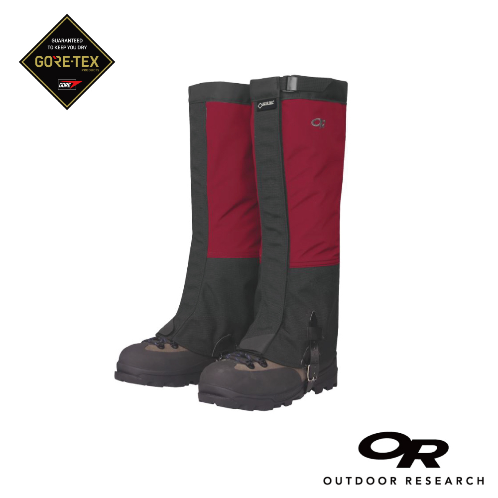 【美國Outdoor Research】男款Crocodile Gore-tex防水登山綁腿-紅色S