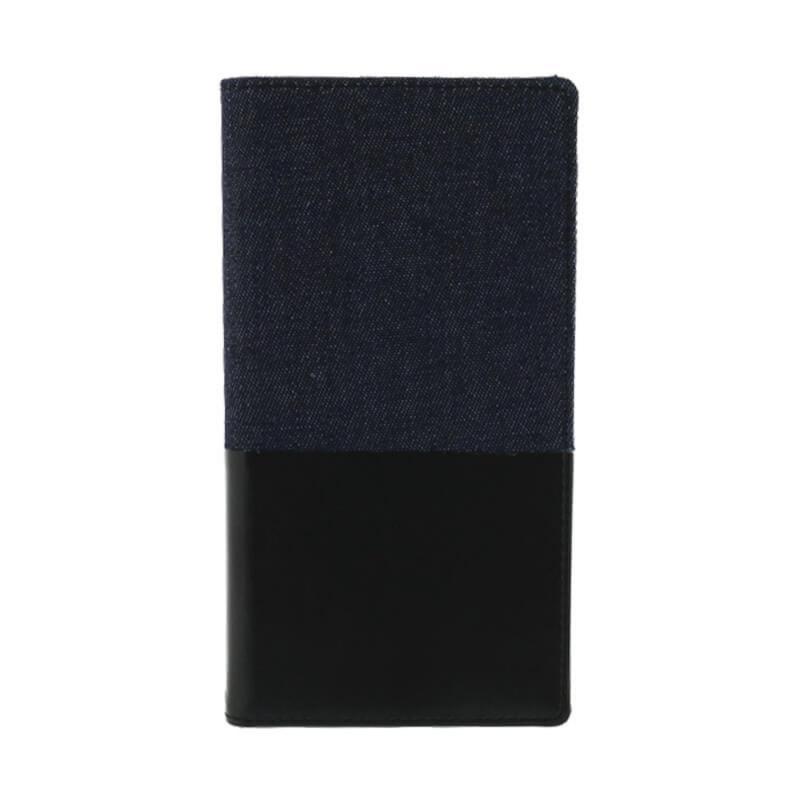 Leplus Sony XZP「WINDE」耐衝擊側掀皮套(黑藍)