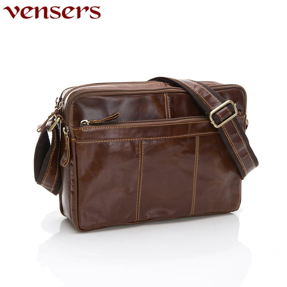 【vensers】小牛皮潮流個性包~斜肩背包(NE883701黃油皮大號)