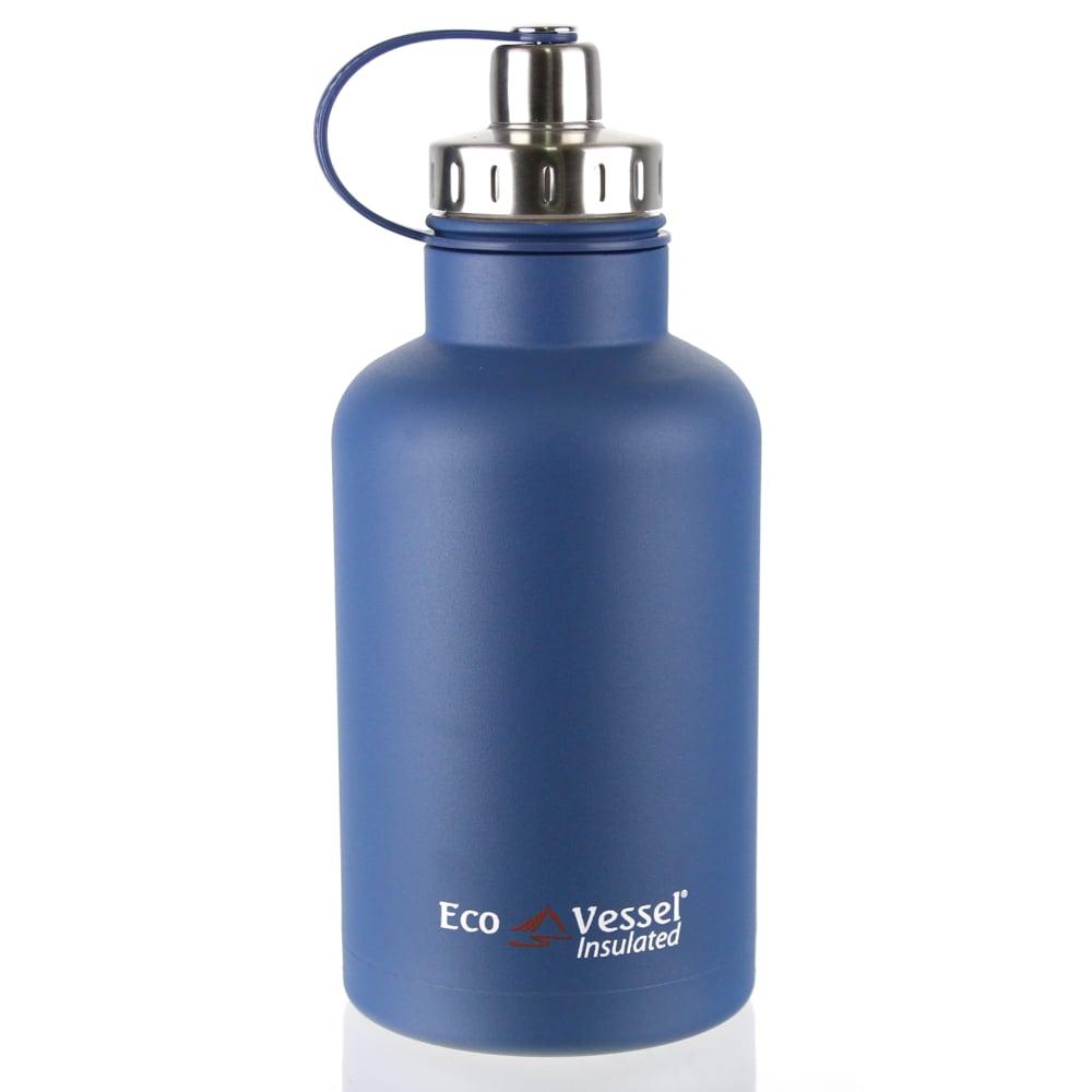 美國 Eco Vessel THE BOSS 不鏽鋼保溫水壺(1900cc)-哈德遜藍