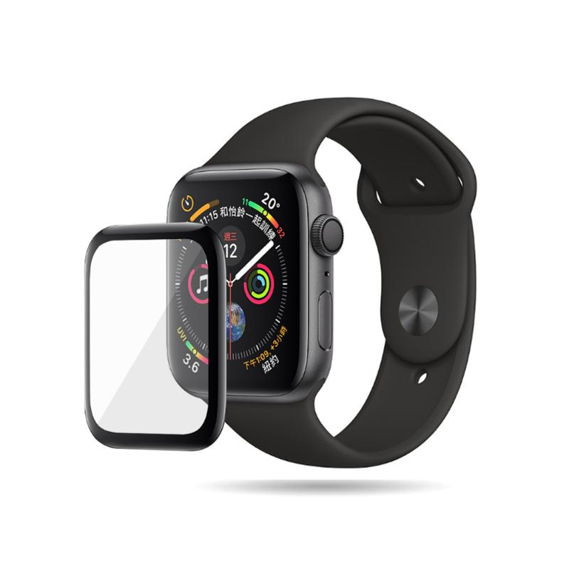 MEGA KING 3D滿版玻璃保護貼 Apple Watch 44mm 黑