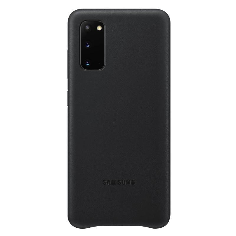 SAMSUNG Galaxy S20 5G皮革背蓋 黑