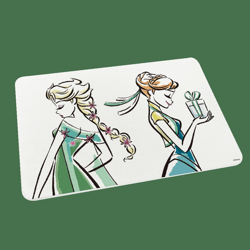 【收納王妃】迪士尼冰雪奇緣1系列 珪藻土超吸水地墊60*39 (春天姊妹)