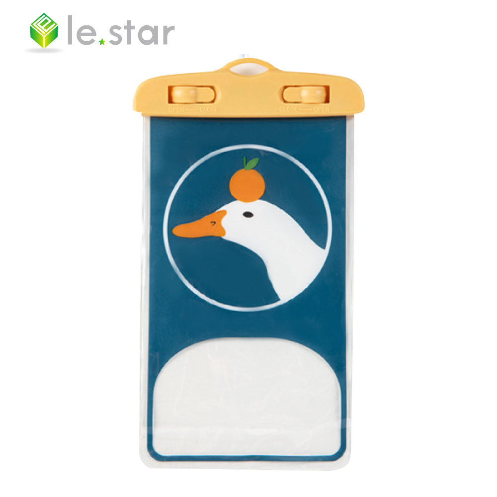 lestar 稚趣萌寵手機防水袋(通用版) 咔咔鴨