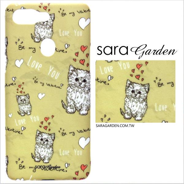 【Sara Garden】客製化 手機殼 SONY L2 保護殼 硬殼 插畫愛心貓咪