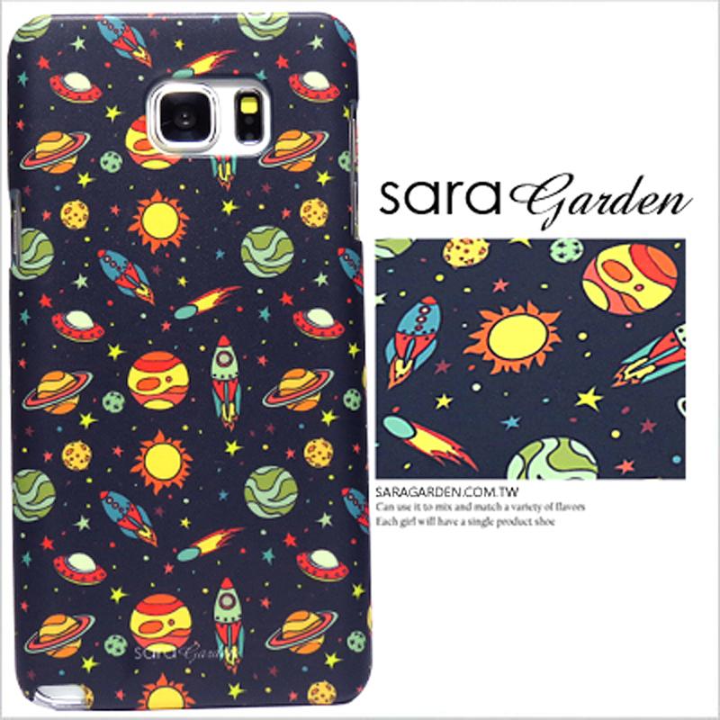 【Sara Garden】客製化 手機殼 三星 Note10+ Note10Plus 手繪 太空 星球 火箭 保護殼 硬殼 限定