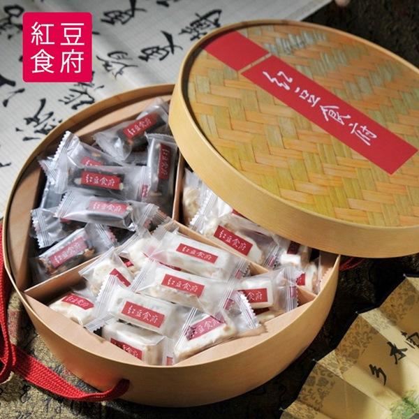 預購《紅豆食府》圓滿伴手禮盒(棗泥核桃糕*1+花生牛軋糖*2)/大禮盒(1/16-1/22出貨)