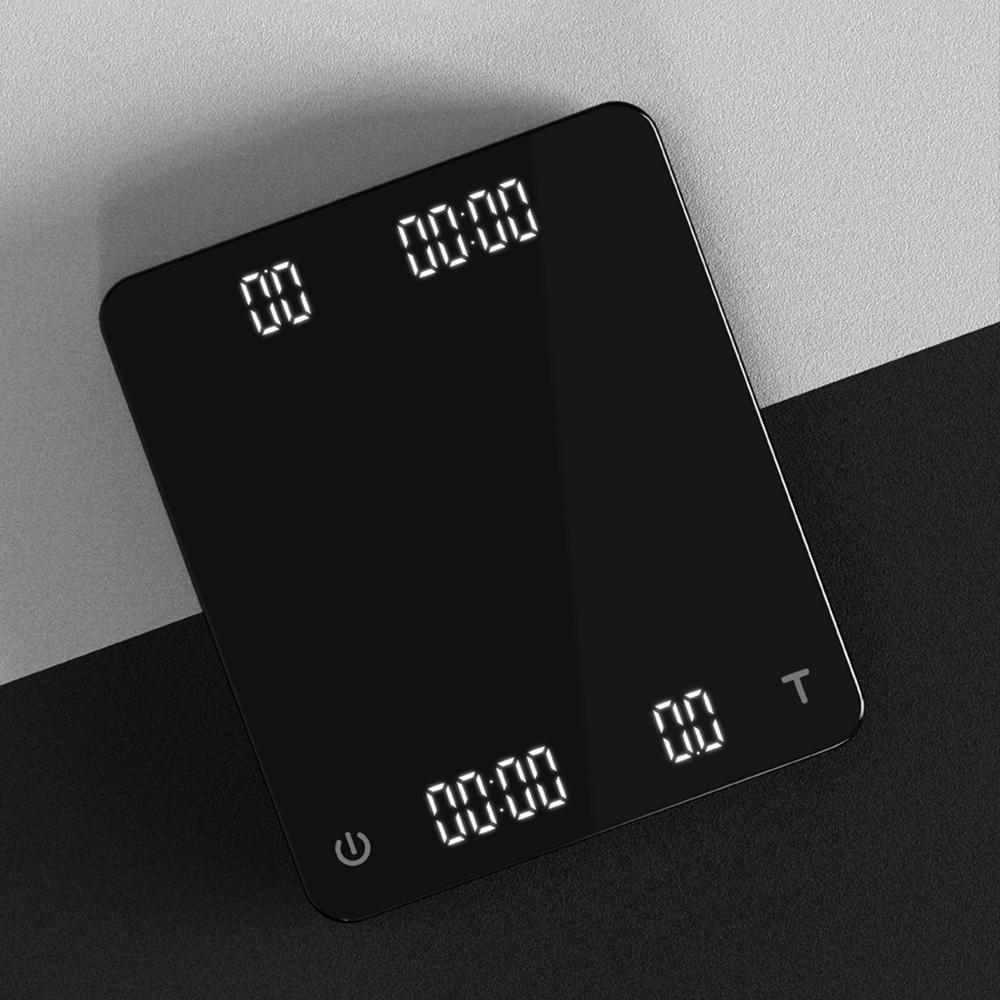 CAFEDE KONA GHOST雙螢幕LED手沖咖啡電子秤-黑色