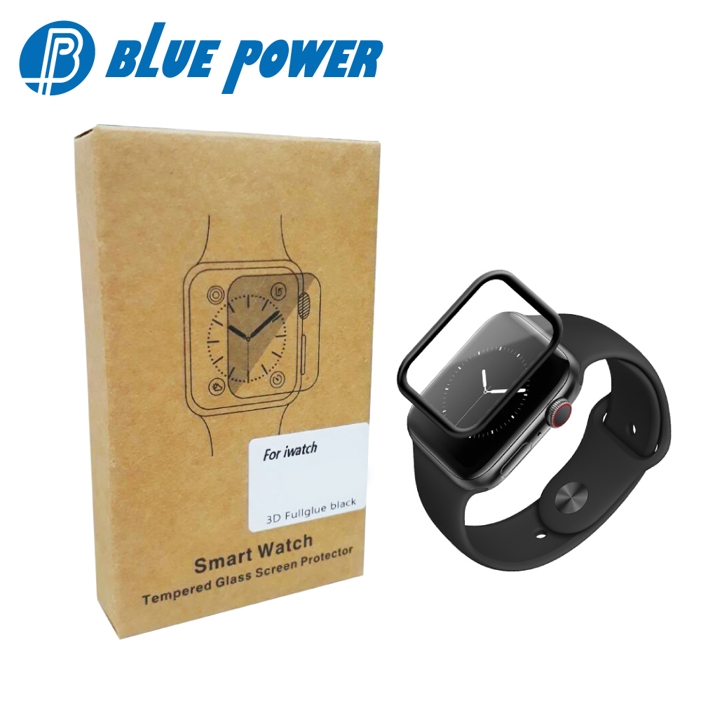 BLUE POWER APPLE WATCH 44mm 3D滿版 9H鋼化玻璃保護貼