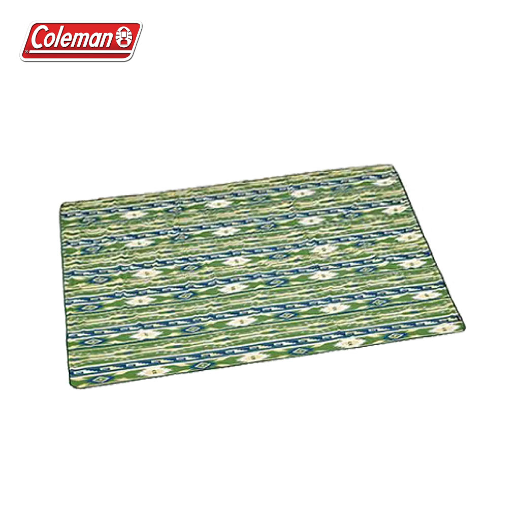 Coleman 300帳蓬內墊地毯 (鄉村綠藍圖騰) PU發泡睡墊 CM-23127