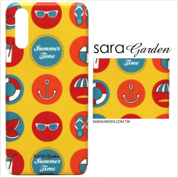 【Sara Garden】客製化 手機殼 華為 P20 Pro 保護殼 硬殼 美式水手風