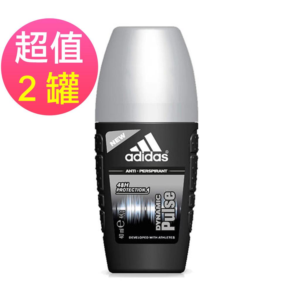 adidas愛迪達 男用制汗香體滾珠(青春活力)x2罐(40ml/罐)