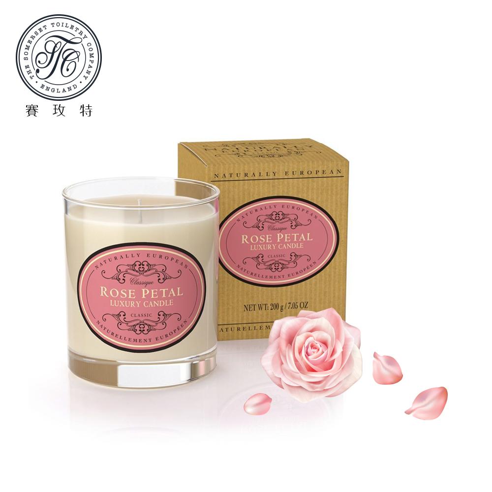 英國賽玫特Somerset自然歐洲植物蠟香氛蠟燭200g-玫瑰花瓣