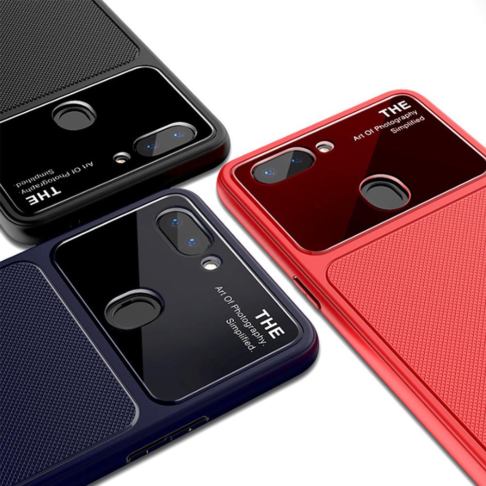 QinD OPPO R15 爵士玻璃手機殼(黑色)