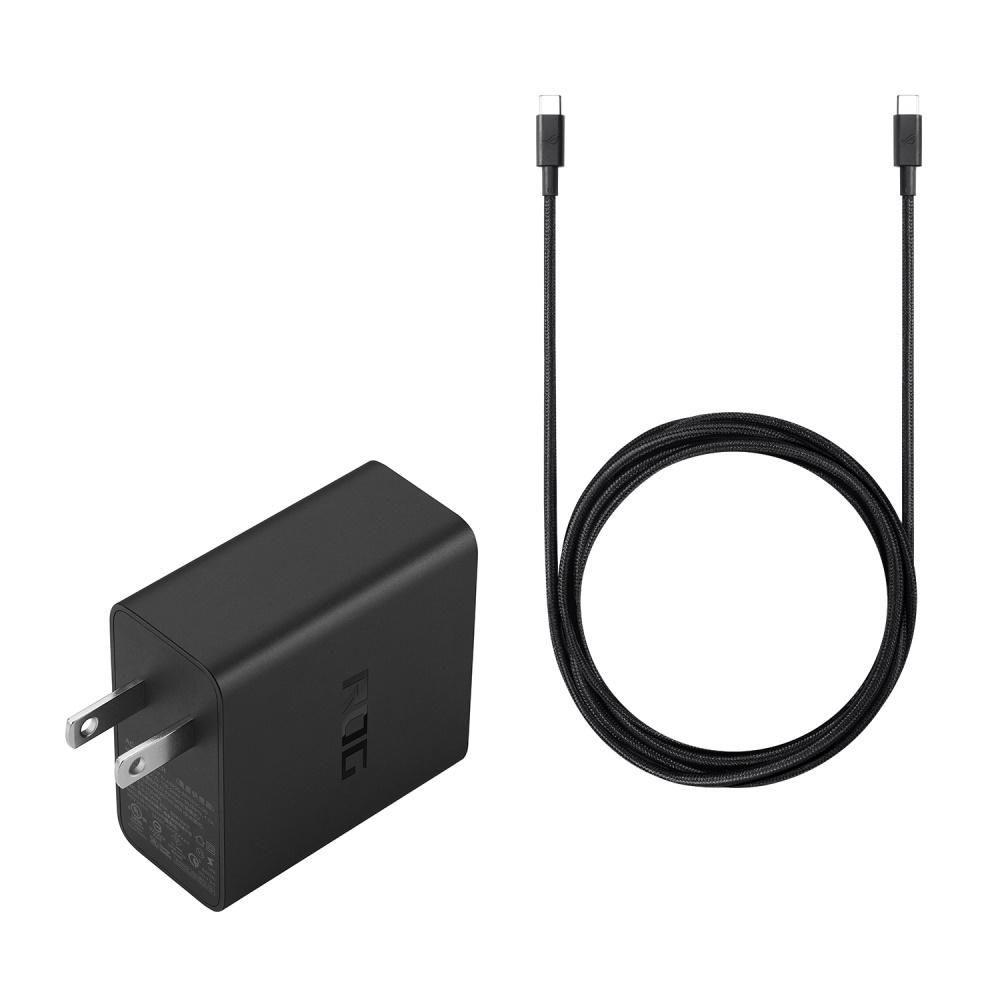 ASUS ROG 65W快充充電組 (附1.8M C to C傳輸線)-APWU009 黑