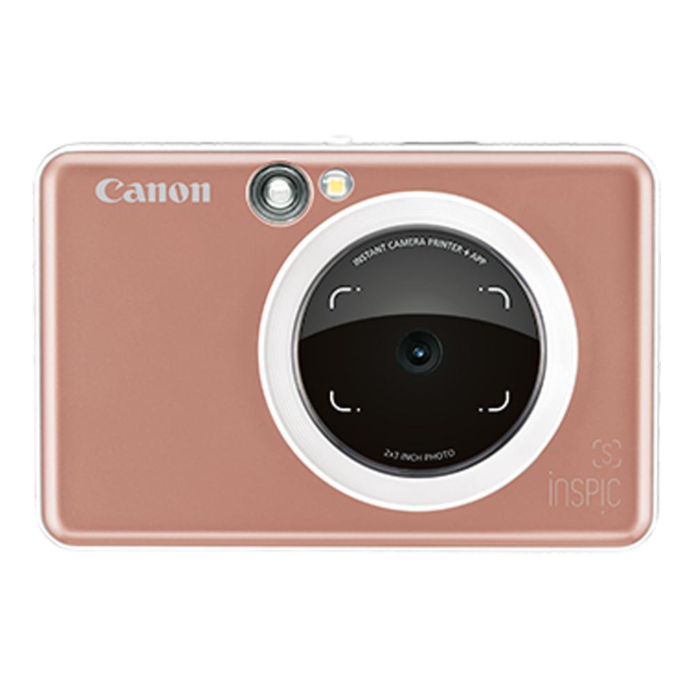 Canon iNSPiC [S] ZV-123A 拍可印相機(公司貨)/玫瑰金-送相冊+收納包+30張底片(含盒內)