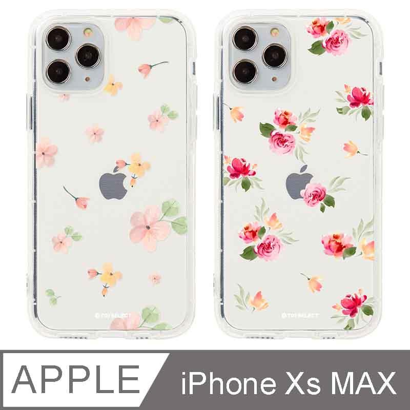 iPhone Xs Max 6.5吋 Queen女王的水晶花卉防摔iPhone手機殼 烈紅玫瑰