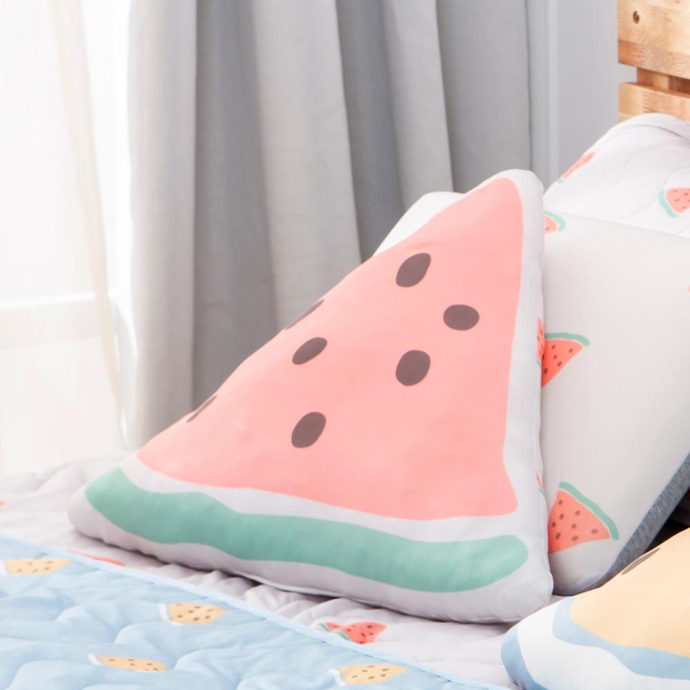 西瓜甜涼感抱枕50cm-灰-生活工場