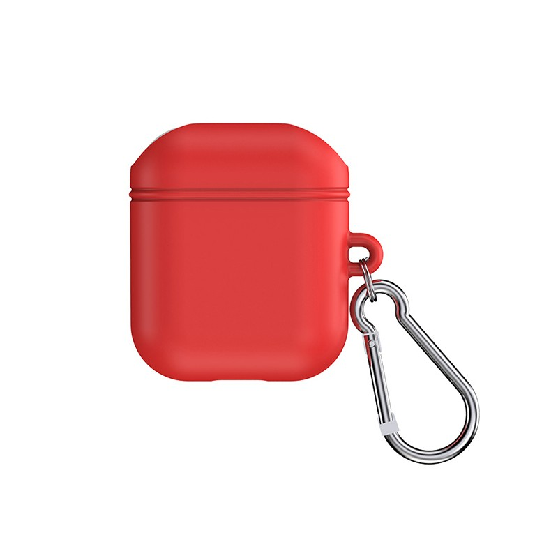 【TOTU台灣官方】AirPods1/2代 防摔殼 保護套 扣環 盔甲系列 紅色
