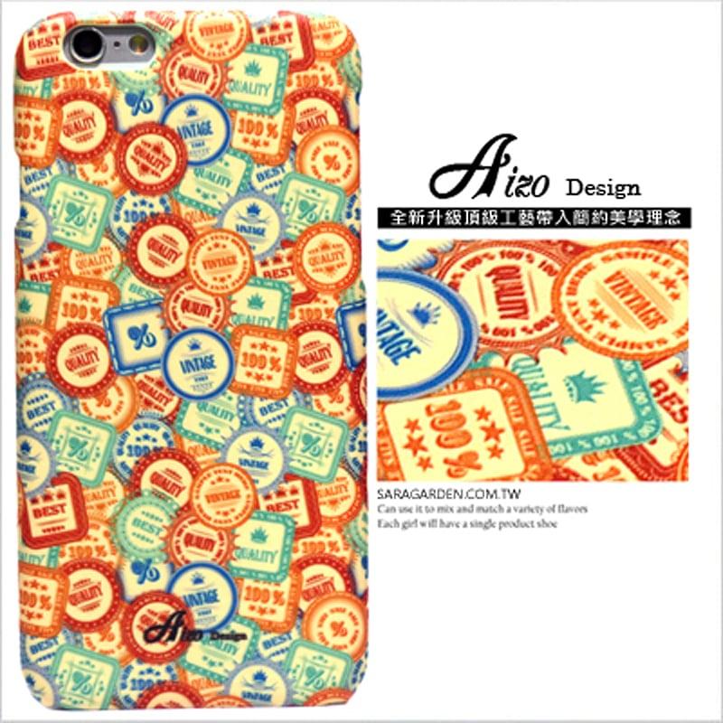 【AIZO】客製化 手機殼 蘋果 iphone7plus iphone8plus i7+ i8+ 美式 滿版 徽章 保護殼 硬殼