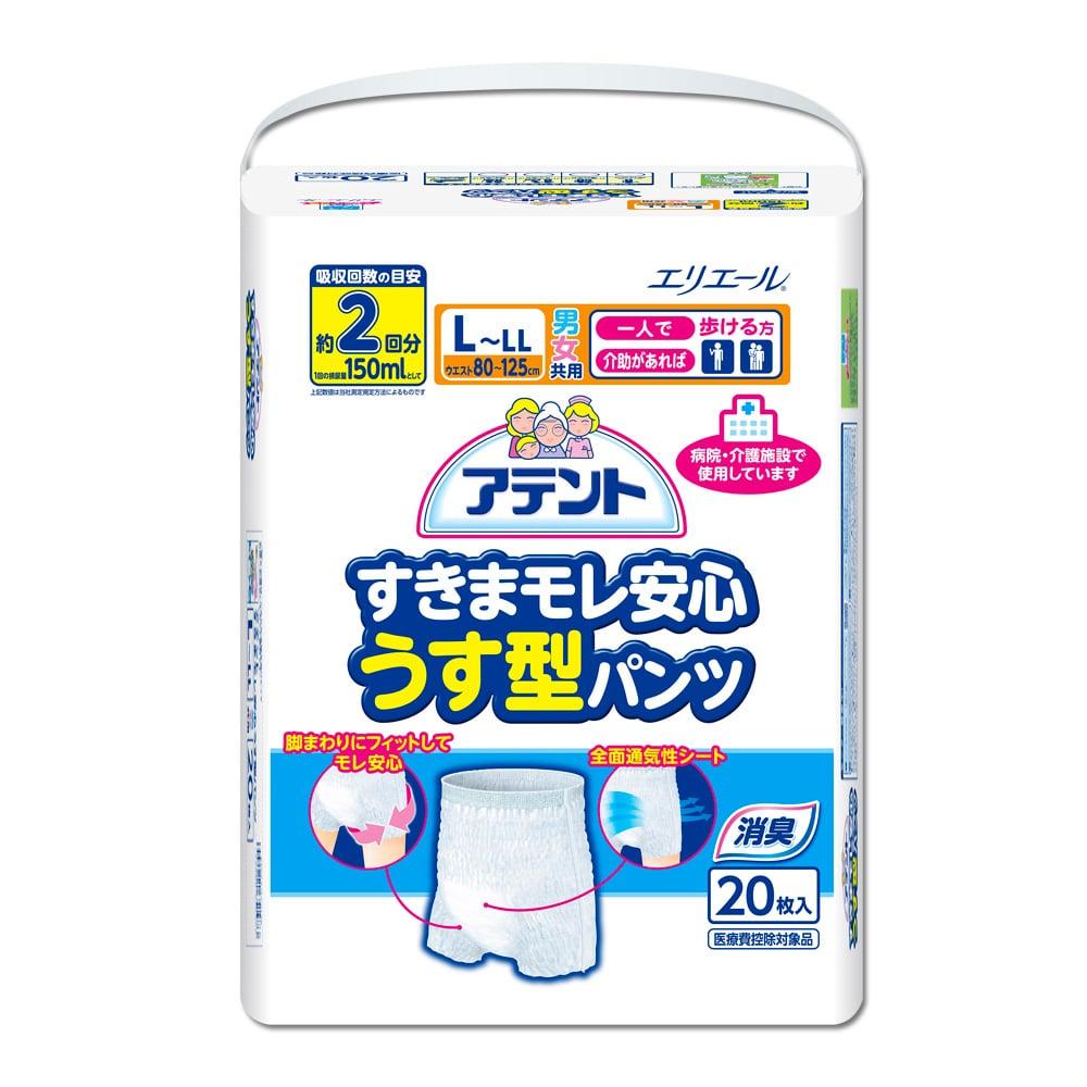 日本大王 Attento超透氣防漏復健褲L~LL20片/包x2包(成箱出貨)