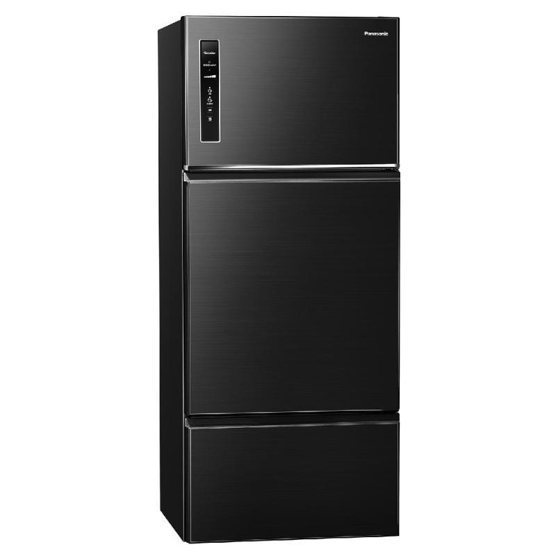 Panasonic 481L無邊框鋼板變頻三門電冰箱 晶漾黑 NR-C481TV-K【贈基本安裝】