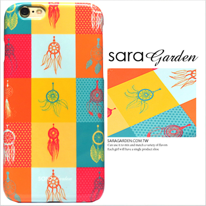 【Sara Garden】客製化 手機殼 蘋果 iPhone6 iphone6S i6 i6s 撞色 捕夢網 羽毛 拼接 硬殼 限定