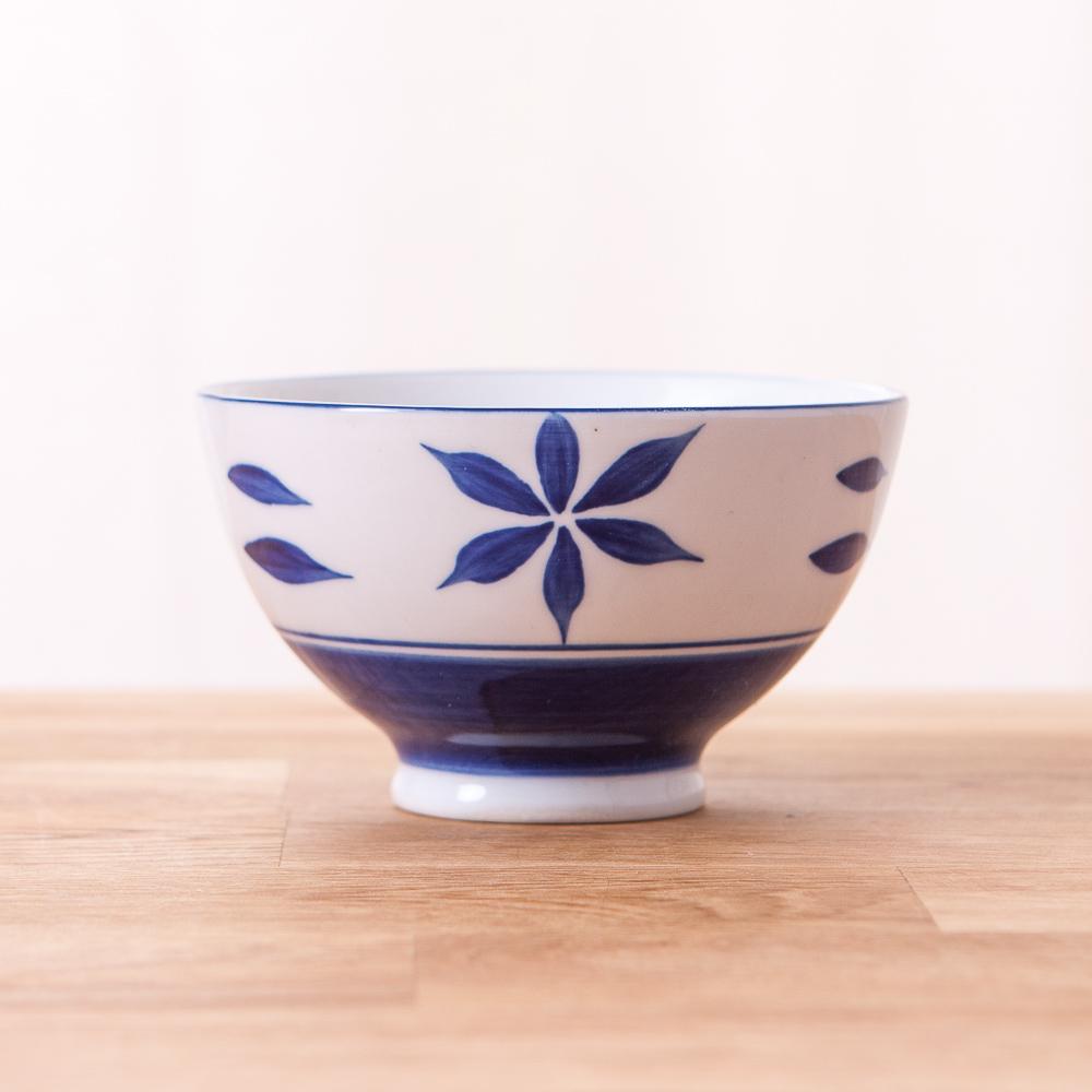 青窯手繪菊葉飯碗11cm-生活工場