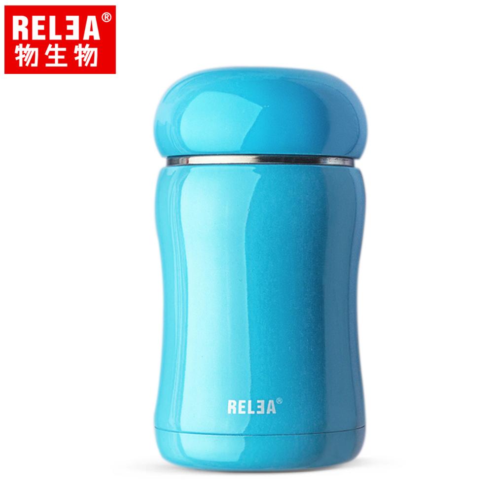 【香港RELEA物生物】210ml嘟嘟真空保溫杯(珊瑚藍)