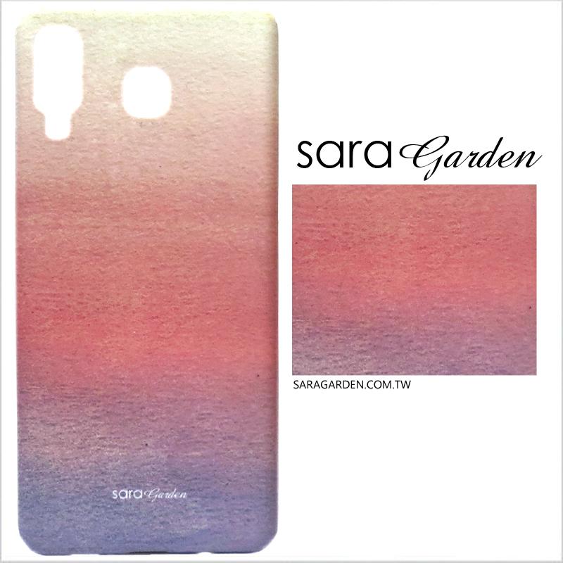 【Sara Garden】客製化 手機殼 三星 A8 Star 暈彩藍粉 保護殼 硬殼