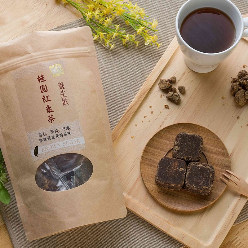 【糖鼎養生黑糖茶磚】超值三入組-黑糖桂圓紅棗茶