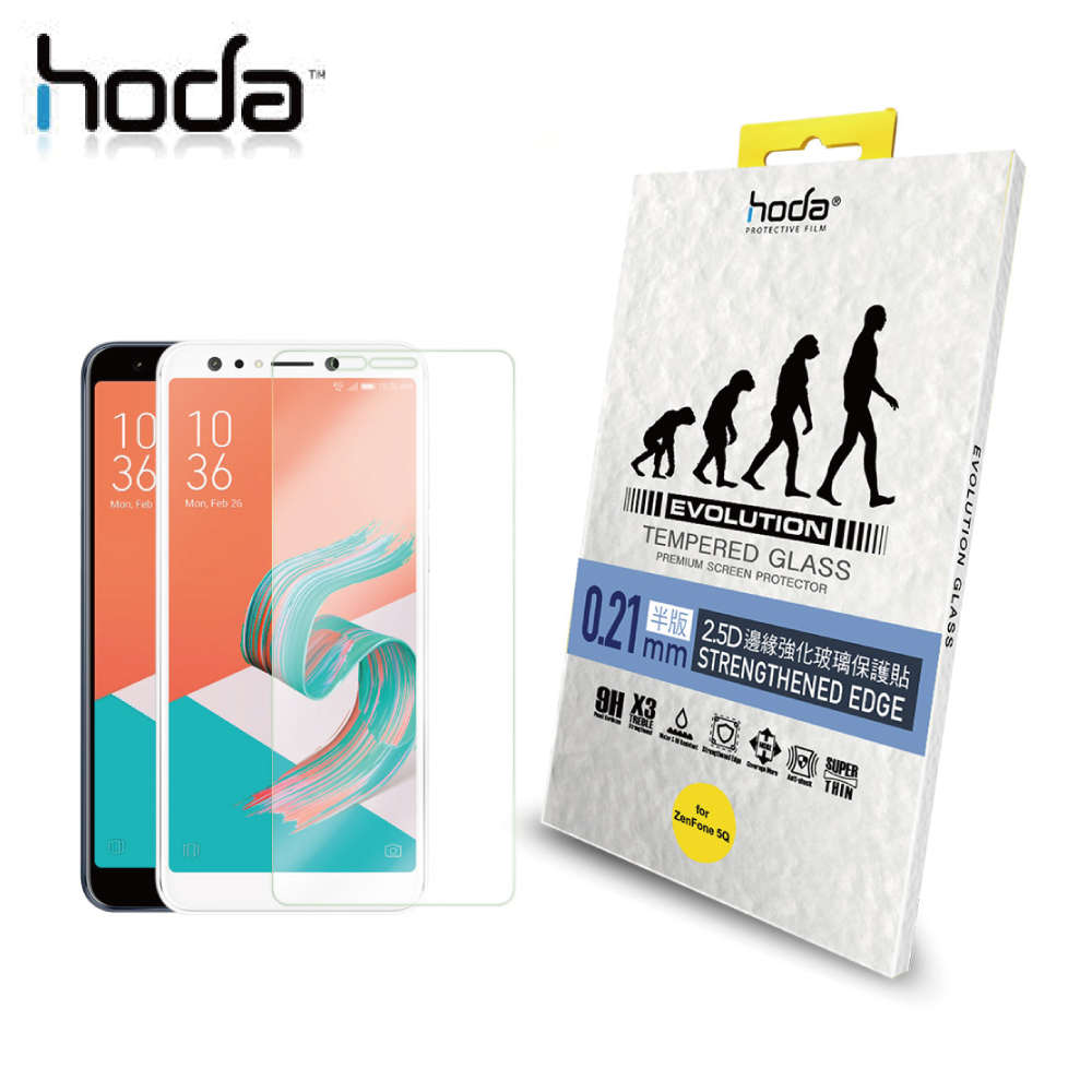 HODA ASUS ZenFone 5Q ZC600KL 進化版邊緣強化 9H鋼化玻璃保護貼 (非滿版)