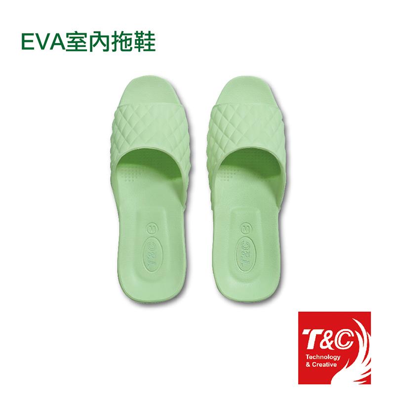 EVA室內拖鞋不分左右腳_蘋果綠色(尺寸L / 3雙入)