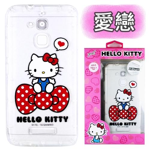 【Hello Kitty】ASUS ZenFone 3 Max 5.2吋 ZC520TL 彩繪空壓手機殼(愛戀)