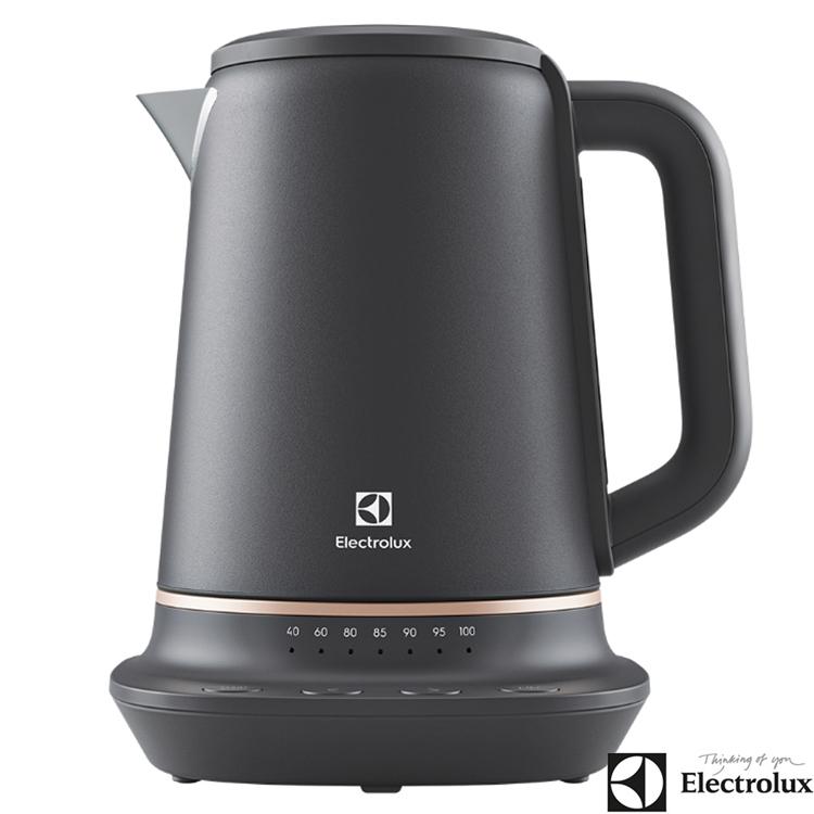 【Electrolux 伊萊克斯】1.7L瑞典美學不鏽鋼溫控電茶壺 快煮壺 電熱水壺 E7EK1-60BP (加碼送好禮)