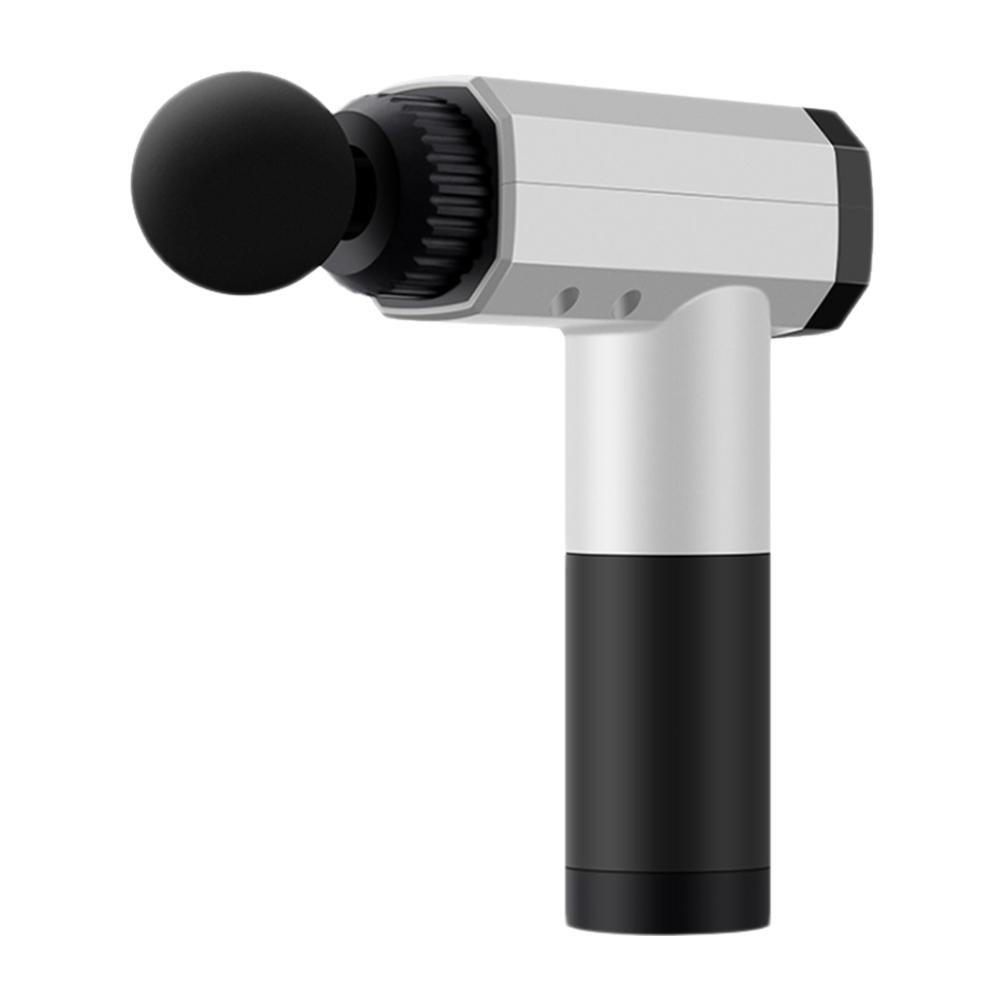 FJ 數位觸控USB充電肌肉筋膜按摩槍K4 白色