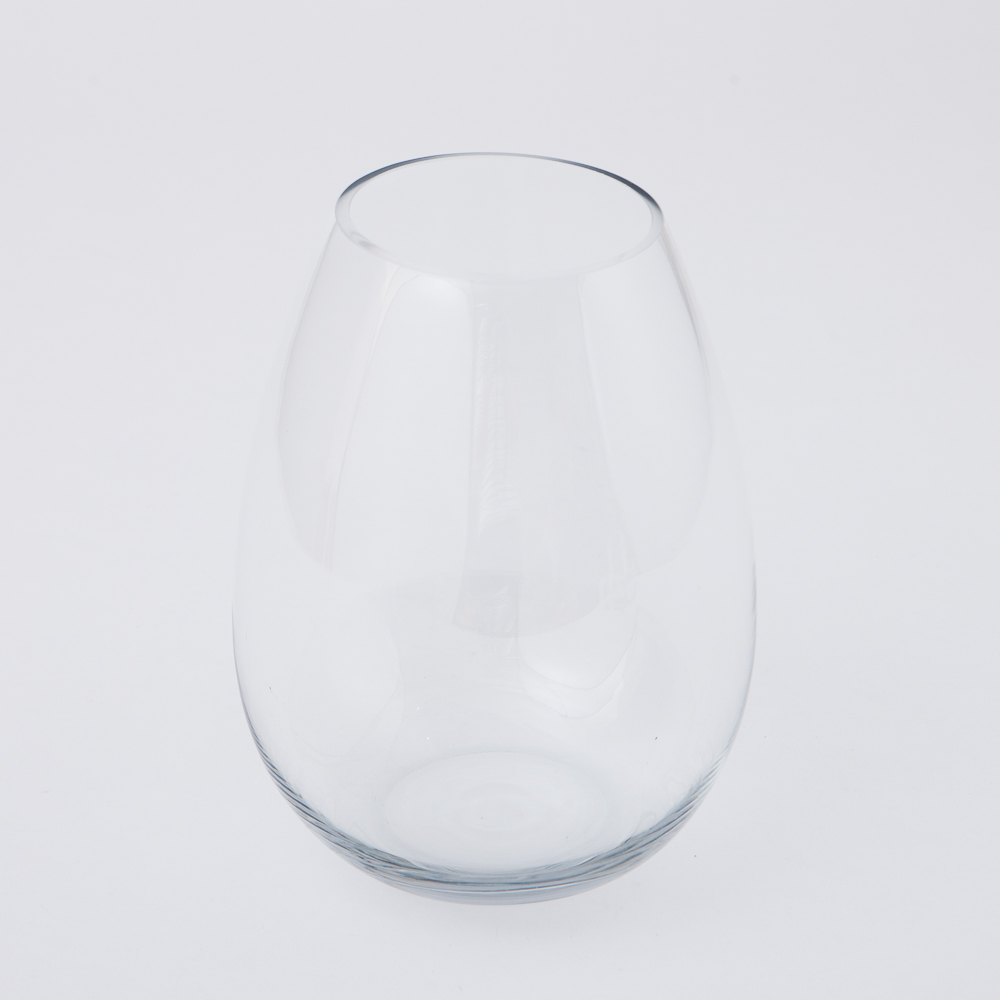 Clear圓弧手工花瓶H24cm-生活工場