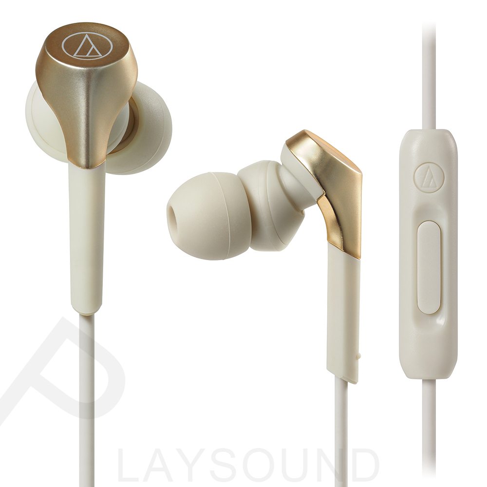 鐵三角 ATH-CKS550XiS 香檳金 重低音 線控通話 耳道式耳機