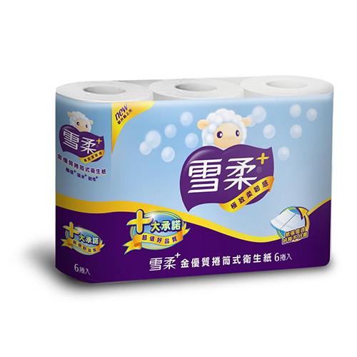雪柔 金優質小捲筒衛生紙200組x6捲x10串/箱