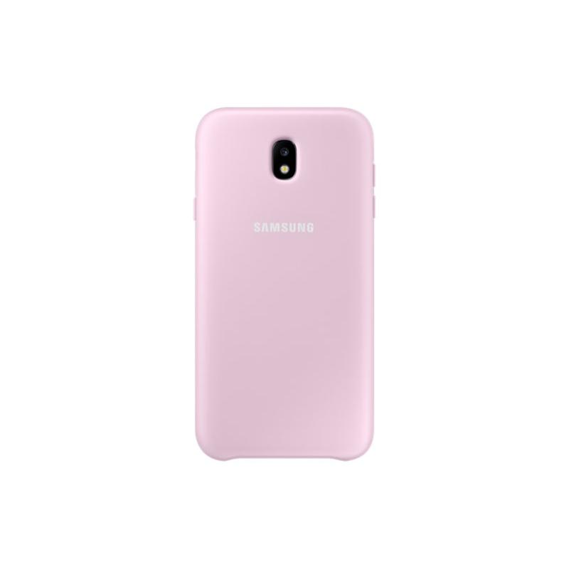 SAMSUNG J7 Pro薄型透明背蓋-PC及TPU 粉色
