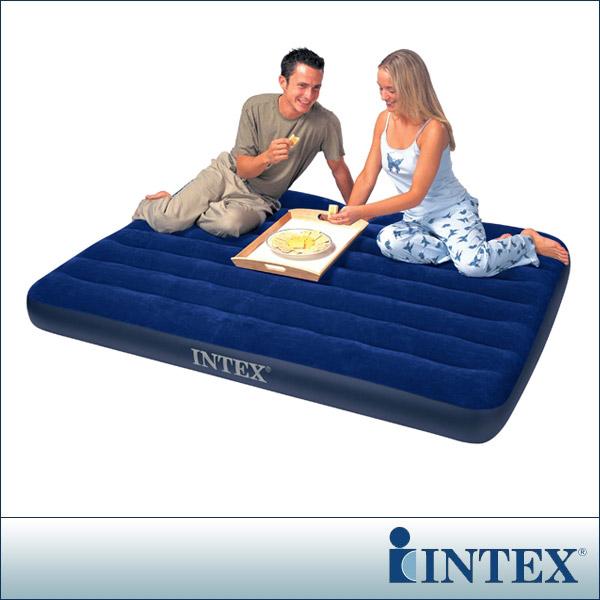 【INTEX】雙人植絨充氣床墊(寬137cm)(68758)