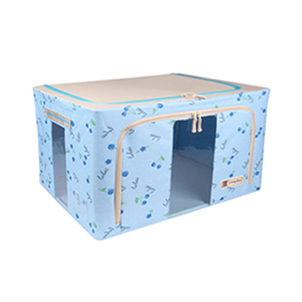 22L【藍櫻桃】牛津布折疊防塵收納箱