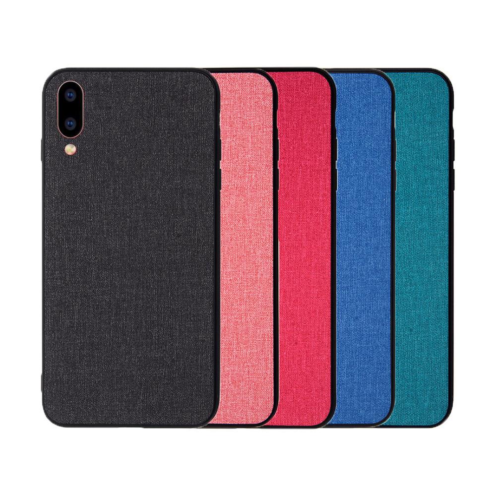 QinD vivo X21 UD(螢幕指紋版) 布藝保護套(青藍色)