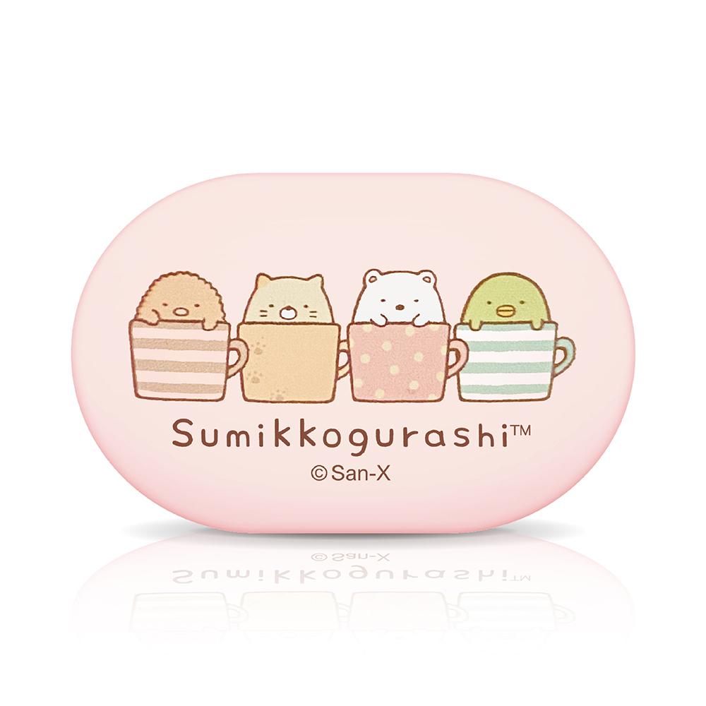 【正版授權】角落生物小夥伴 Sumikko Gurashi 無線藍牙耳機-咖啡杯(粉)