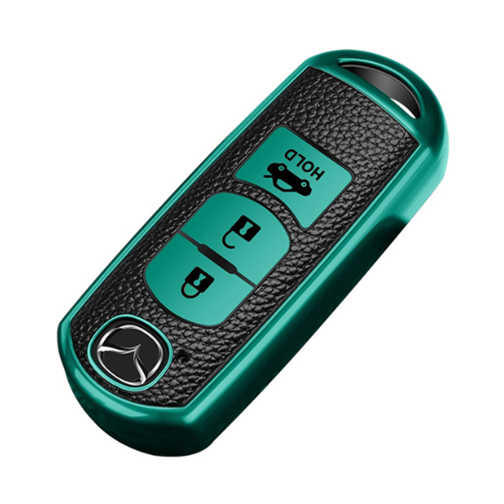 QinD MAZDA 馬自達車鑰匙保護套(祖母綠)