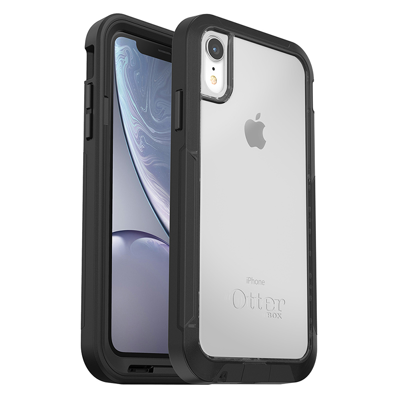 【OtterBox】iPhone XR Pursuit 探索者系列 防撞保護殼 黑透明