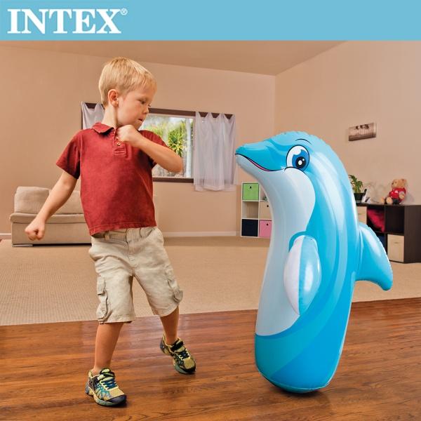 【INTEX】動物造型充氣不倒翁-海豚(44669)